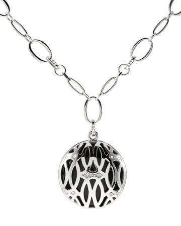 White House Black Market Women's Ellipses Long Pendant Necklace