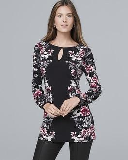 White House Black Market Floral-print Tunic