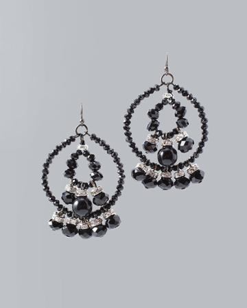 White House Black Market Women's Beaded Drop Earrings