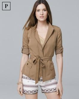White House Black Market Petite Soft Utility Blazerette Jacket