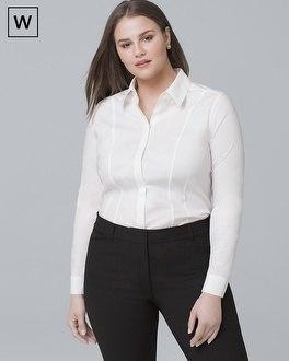 White House Black Market Plus Classic Poplin Shirt
