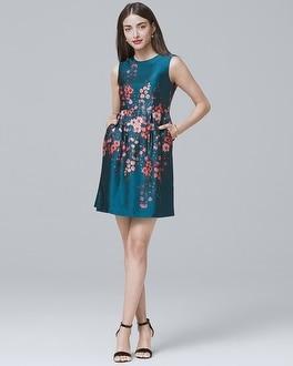 White House Black Market Nanette Lepore Silk Floral A-line Dress