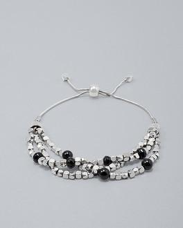 White House Black Market Onyx Beaded Friendship Bracelet
