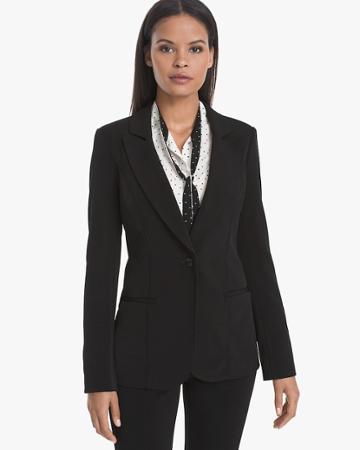 White House Black Market Women's Stretch Knit Blazer Jacket