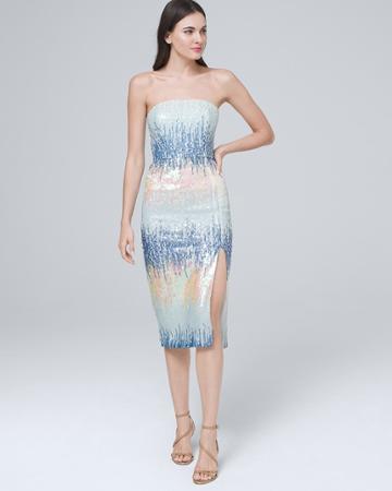 White House Black Market Women's Ml Monique Lhuillier Embellished Strapless Dress