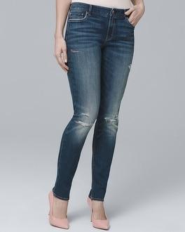 White House Black Market Curvy Destructed Skinny Jeans