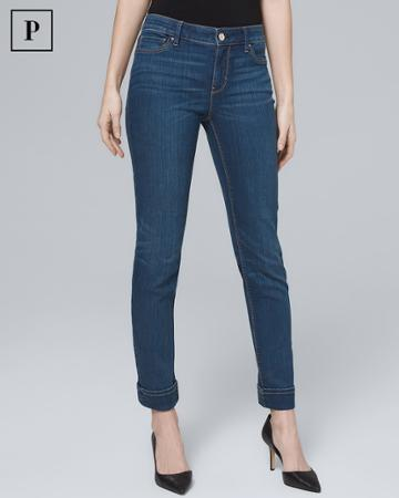 White House Black Market Women's Petite Classic-rise Essential Slim Crop Jeans