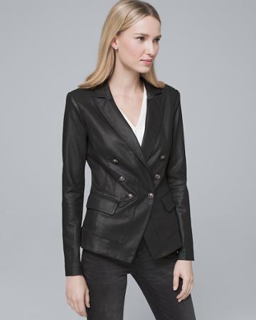 White House Black Market Women's Coated Trophy Jacket