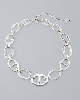 White House Black Market Mariner Link Short Necklace