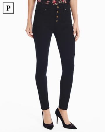 White House Black Market Women's Petite High-rise Black Skinny Ankle Jeans