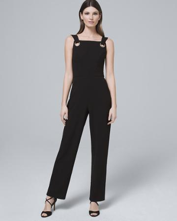 White House Black Market Women's Nicole Miller New York Black Strappy Jumpsuit