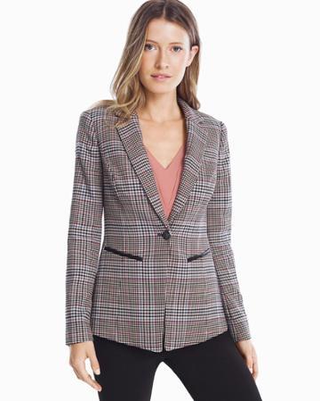 White House Black Market Women's Plaid Blazer Jacket