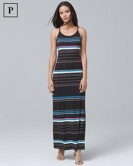 White House Black Market Petite Striped Maxi Dress