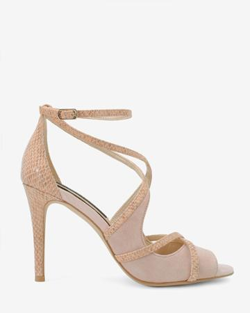 White House Black Market Women's Suede & Exotic-print Strappy Heels