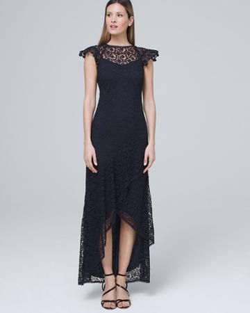 White House Black Market Women's Ml Monique Lhuillier Embroidered Lace Gown