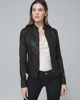 White House Black Market Coated Denim Jacket