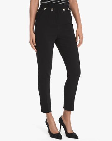 White House Black Market Women's Tapered Slim Ankle Pants