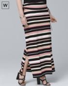 White House Black Market Women's Plus Convertible Stripe Maxi Skirt