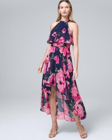 White House Black Market Women's Eliza J. Floral Blouson Dress