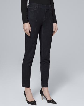 White House Black Market Women's Mid-rise Polished Slim Ankle Jeans