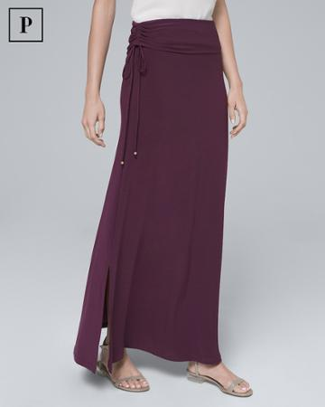 White House Black Market Women's Petite Convertible Maxi Skirt