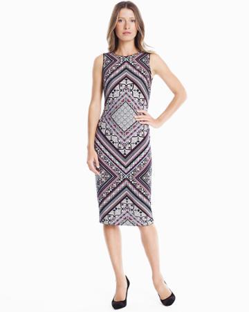 White House Black Market Women's Reversible Sleeveless Knit Sheath Dress