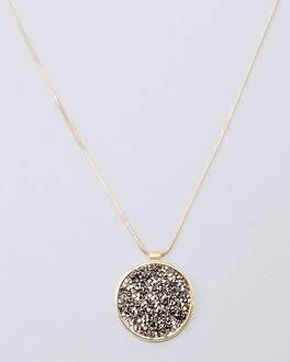 White House Black Market Pav-encrusted Pendant Friendship Necklace
