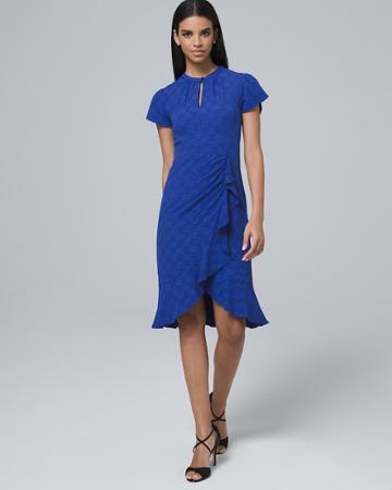White House Black Market Women's Nanette Lepore Floral Faux Wrap Midi Dress