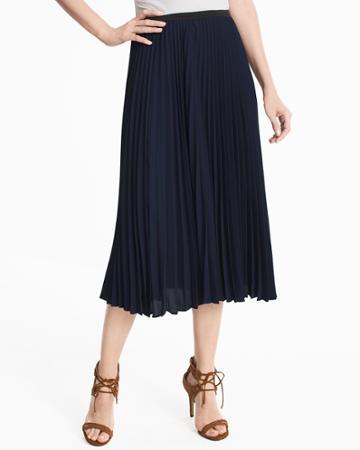 White House Black Market Women's Pleated Midi Skirt