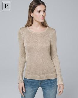 White House Black Market Petite Metallic-detail Sweater