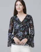 White House Black Market Sleeveless Floral-print Blouse