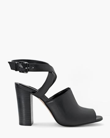 White House Black Market Women's Ankle Strap Mules