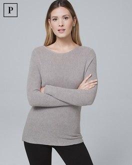 White House Black Market Petite Dual-neck Twist-detail Sweater