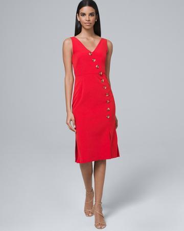 White House Black Market Women's Vince Camuto Button-front Sheath Dress