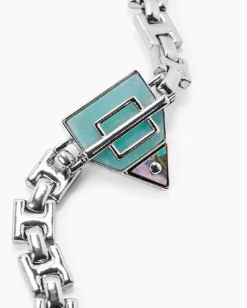 White House Black Market Women's Abalone Link Bracelet