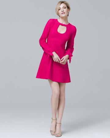White House Black Market Women's Nanette Lepore A-line Choker Dress