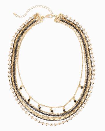 White House Black Market Women's Goldtone Multi-row Short Necklace