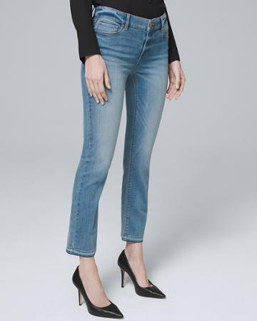 White House Black Market Women's Mid-rise Crop Flare Jeans