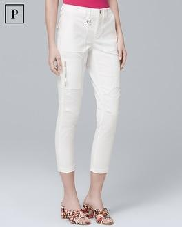 White House Black Market Petite Utility Slim Crop Jeans