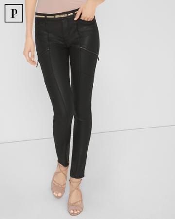 White House Black Market Women's Petite Coated Skinny Jeans