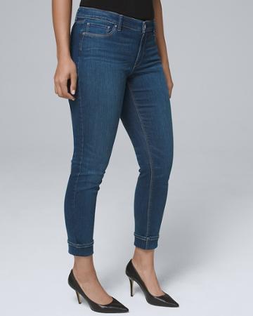 White House Black Market Women's Curvy-fit Classic-rise Essential Slim Crop Jeans