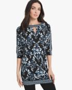 White House Black Market Printed Tunic
