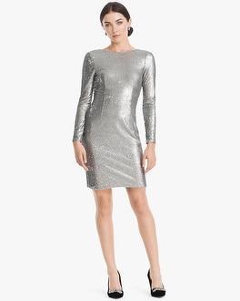 White House Black Market Aidan Mattox Sequin Sheath Dress