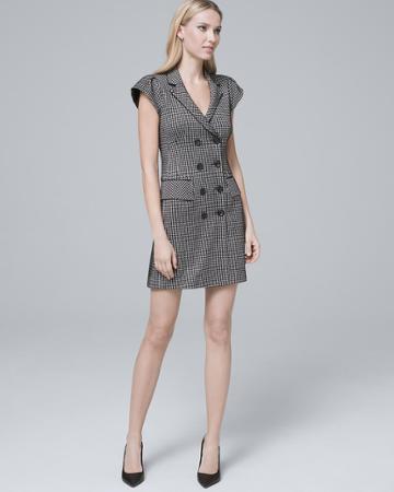 White House Black Market Women's Nanette Lepore New York Herringbone Coat Dress