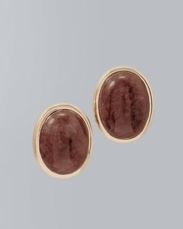 White House Black Market Quartz Stone Stud Earrings