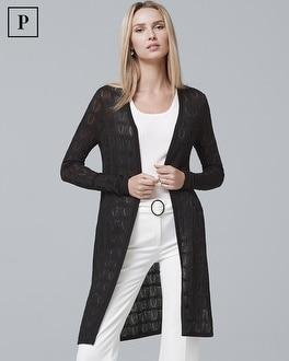 White House Black Market Petite Textured Knit Cover-up