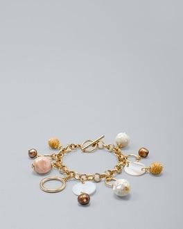 White House Black Market Goldtone Charm Bracelet