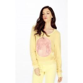 Wildfox Couture Pink Moon V-neck Baggy Beach Jumper