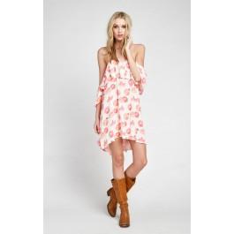 Wildfox Couture Grapefruit Ruffle Dress