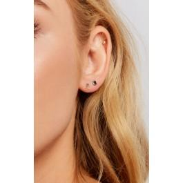 Wildfox Couture Leenabell 14k Black Sapphire Stud Single Earring
